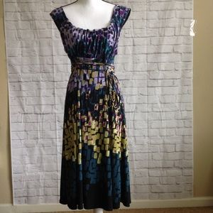 AxCess by Liz Claiborne Printed Dress Size Large